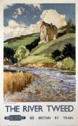 The River Tweed and Neidpath Castle, English Railway Travel Poster Print by British Railways